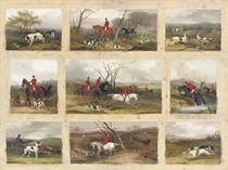 Partridge Shooting; Drawing Cover; Grouse Shooting; Hounds going to the Meet; Full Cry; In Difficulties; In Clips; The Death; and The First Turn