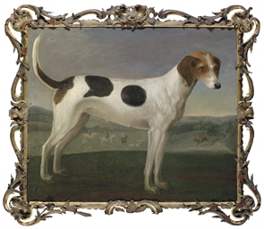 A hound in a landscape, a hunt