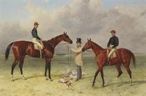 Mr Richard Sutton's bay colt Lord Lyon and his bay colt Elland