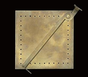 An Italian brass plane-table a