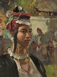 A Long neck woman from Shan St