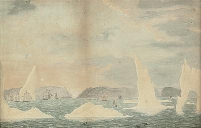 American Whalers amongst icebe