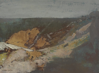 Paysage marin avec falaise