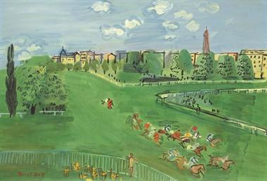 Le champ de courses à Auteuil