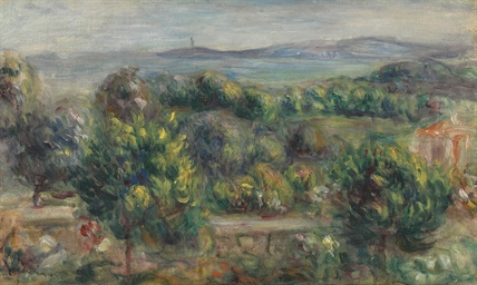 Paysage, arbre jaune