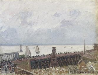 Entrée du port du Havre, temps