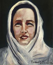 Tête de femme au foulard