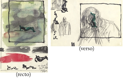 Sheet of Studies (recto and ve