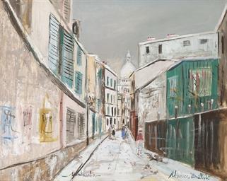 Rue Saint-Rustique sous la nei