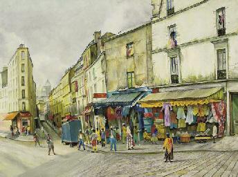 A street corner, Montmartre