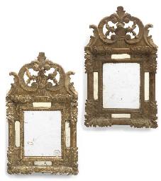 A MATCHED PAIR OF GILTWOOD MIR