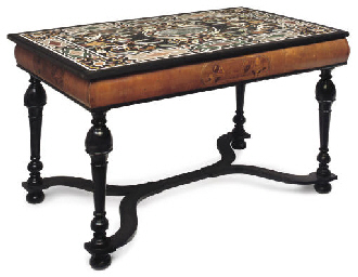 AN ITALIAN MARBLE TOP CENTRE T