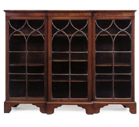 AN EDWARDIAN MAHOGANY BREAKFRO