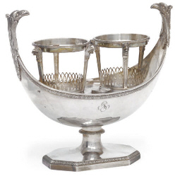 A FRENCH SILVER EMPIRE STYLE O