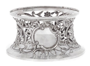 AN IRISH SILVER DISH RING OF G