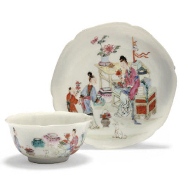 A Chinese famille rose teabowl