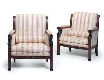 A PAIR OF FRENCH MAHOGANY SIMU