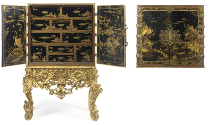 A WILLIAM AND MARY LACQUERED A
