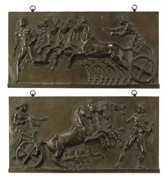 A PAIR OF FRENCH BRONZE RELIEF