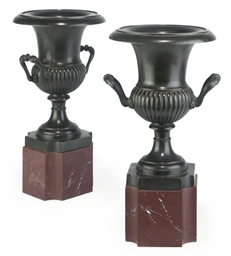 A PAIR OF NAPOLEON III BRONZE