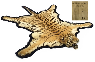 AN INDIAN TIGER SKIN RUG