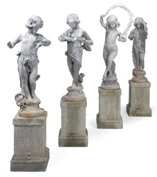 A SET OF FOUR LEAD FIGURES REP