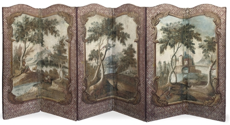 A FRENCH SIX-FOLD SCREEN