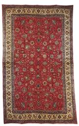 A massive fine Sarouk carpet,