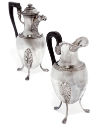 A FRENCH SILVER CAFETIERE