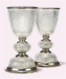 A PAIR OF SILVER-PLATED AND HO