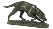 A FRENCH BRONZE MODEL OF A POINTER