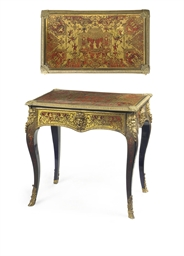 A FRENCH GILT-METAL MOUNTED SC