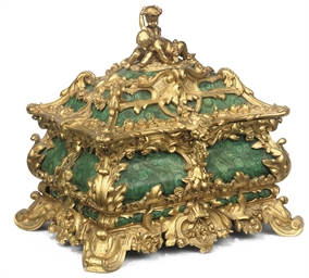 A FRENCH GILT-BRONZE AND SIMUL