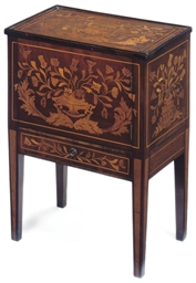 A DUTCH MAHOGANY AND FLORAL MA