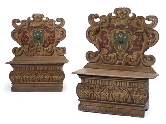 A PAIR OF ITALIAN POLYCHROME D