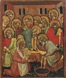 Christ washing the feet of his