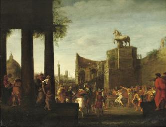 A 'capriccio' view of Rome wit