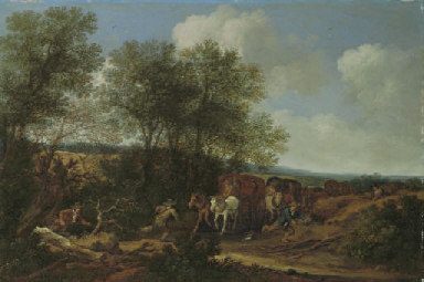 Brigands attacking a caravan i