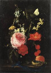A rose, an anemone, a marigold