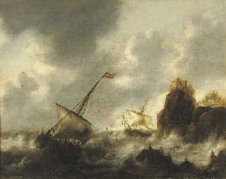 Sailing vessels in distress ne