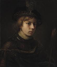 A 'Tronie' of a boy wearing a