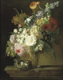 Roses, chrysanthemums, anemoni