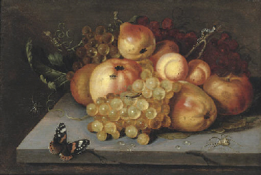 Apples, grapes, pears and apri