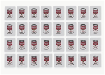 Andy Warhol, '32 Cans of Campbell's Soup,' 1962