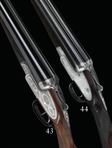A 12-BORE ASSISTED OPENING SIDELOCK EJECTOR GUN BY L. BRANCQUAERT, NO. 3614