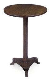 A FRENCH WALNUT CIRCULAR TABLE