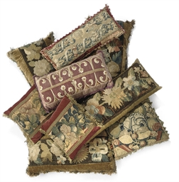A GROUP OF TAPESTRY CUSHIONS A