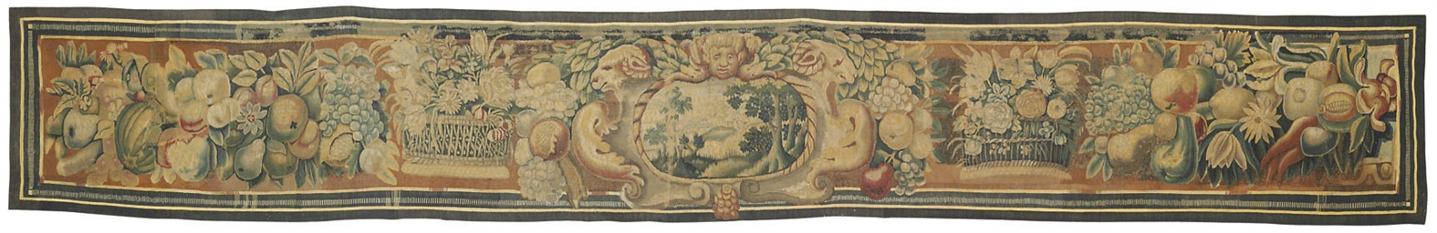 A FINE FLEMISH TAPESTRY BORDER