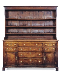 A WEST MIDLANDS OAK DRESSER