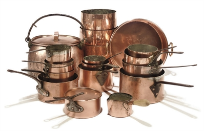 AN ASSEMBLED VICTORIAN COPPER